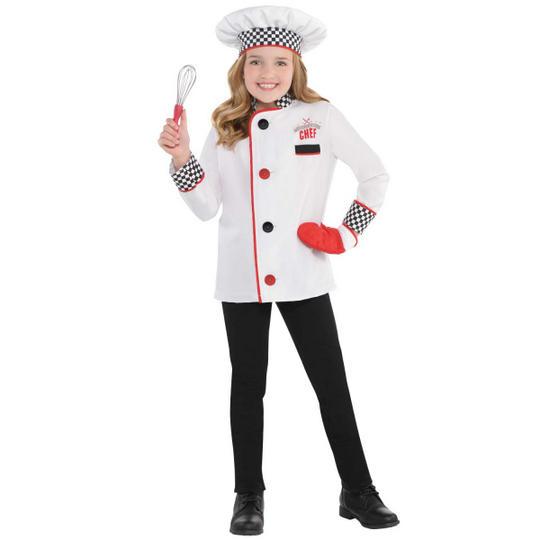 Chef Unisex Kit Fancy Dress Costume Age 4-6 years Thumbnail 1