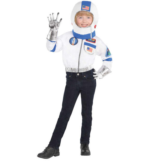 Astronaunt Kit Unisex Fancy Dress Costume Age 4-6 years Thumbnail 2
