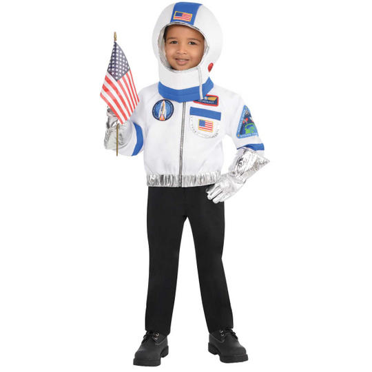 Astronaunt Kit Unisex Fancy Dress Costume Age 4-6 years Thumbnail 1