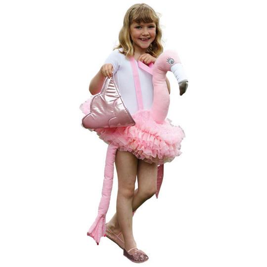Ride on Flamingo Fancy Dress Costume Thumbnail 1