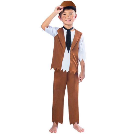 Boys Victorian Costume Kids school Book Week Fancy Dress Story Childs Outfit Thumbnail 1