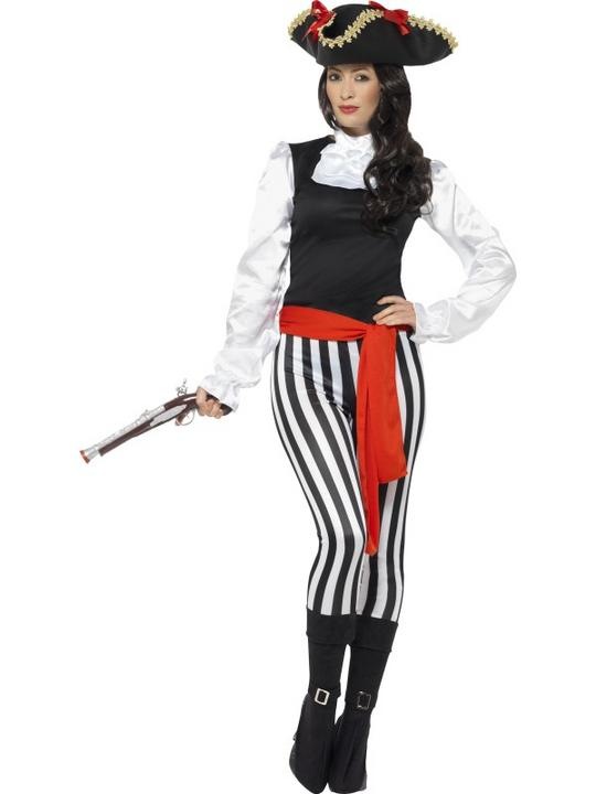 Pirate Lady Women's Fancy Dress Costume Thumbnail 2
