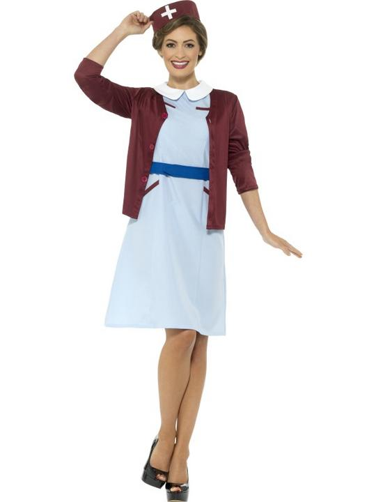 Vintage Nurse Women's Fancy Dress Costume Thumbnail 2