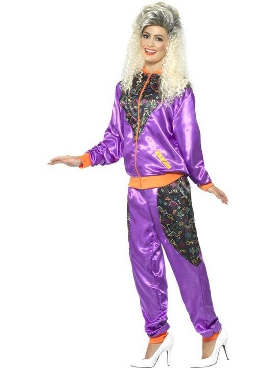 Retro Shell Suit Women's Fancy Dress Costume Thumbnail 2