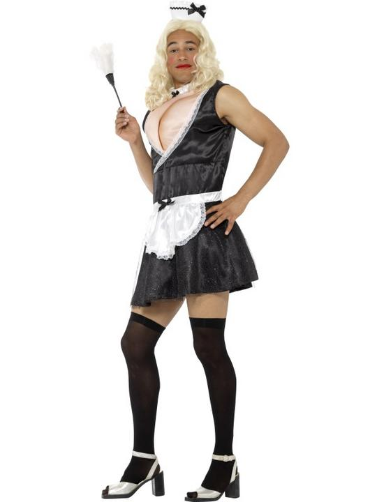 French Maid Men's Fancy Dress Costume Thumbnail 2