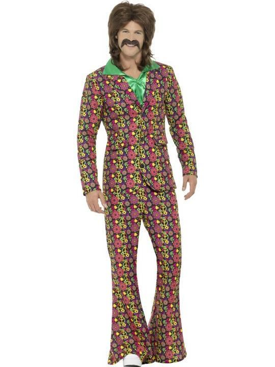 60's Psychedelic CND Suit Men's Fancy Dress Costume Thumbnail 2