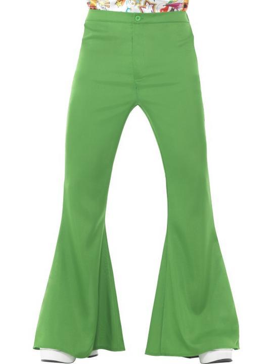 Flared Trousers Green Men's Fancy Dress Costume Thumbnail 1