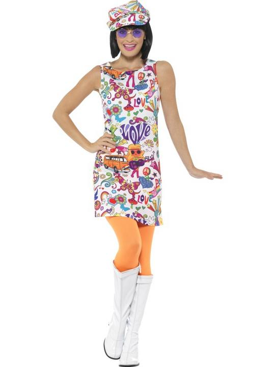 60's Groovy Chick Costume Thumbnail 2