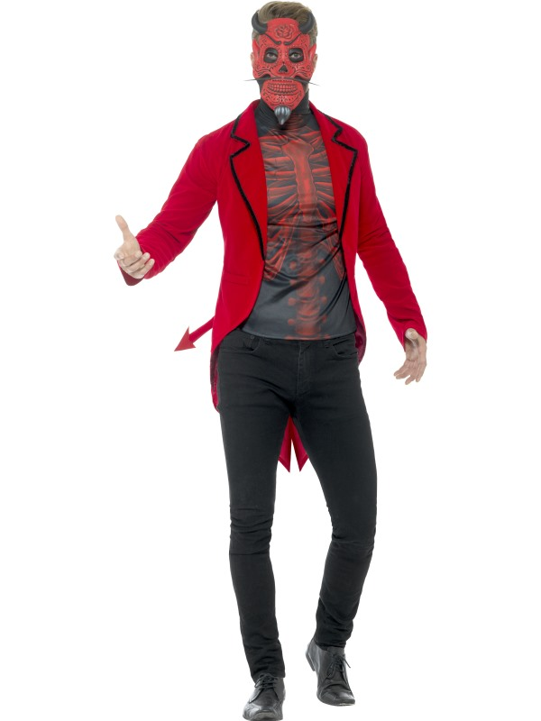 Day of the Dead Devil Men's Fancy Dress Costume