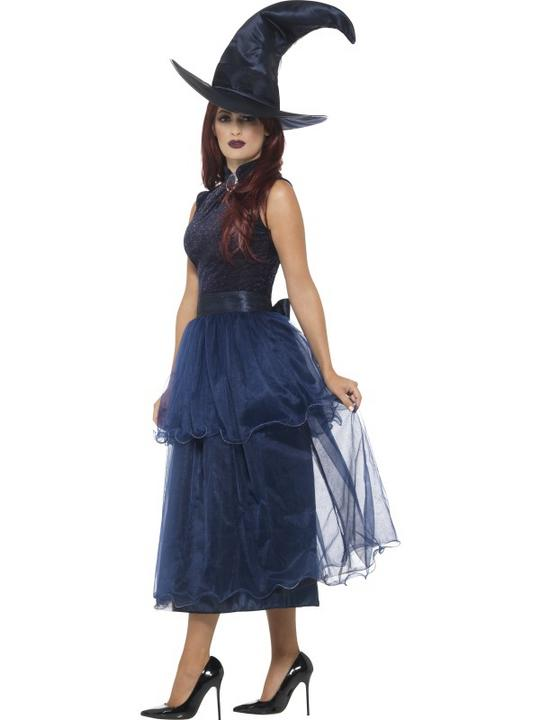 Deluxe Midnight Witch Women's Fancy Dress Costume Thumbnail 3