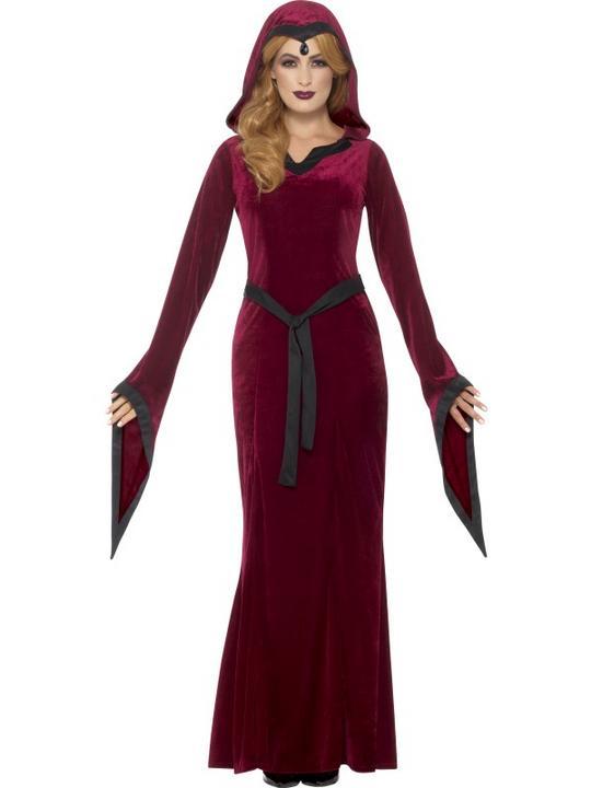 Medieval Vampiress  Women's Fancy Dress Costume Thumbnail 1