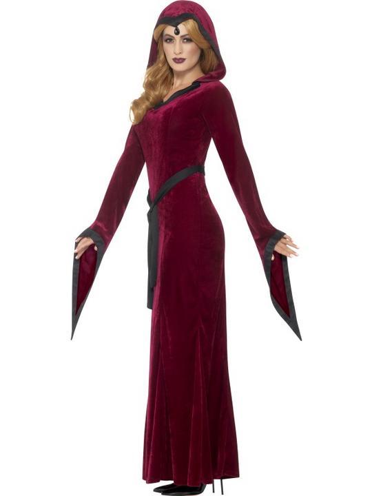 Medieval Vampiress  Women's Fancy Dress Costume Thumbnail 3
