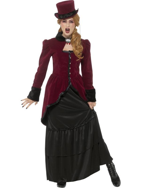 Deluxe Victorian Vampiress Women's Fancy Dress Costume