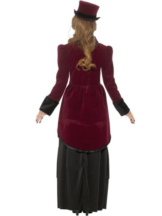 Deluxe Victorian Vampiress Women's Fancy Dress Costume Thumbnail 2