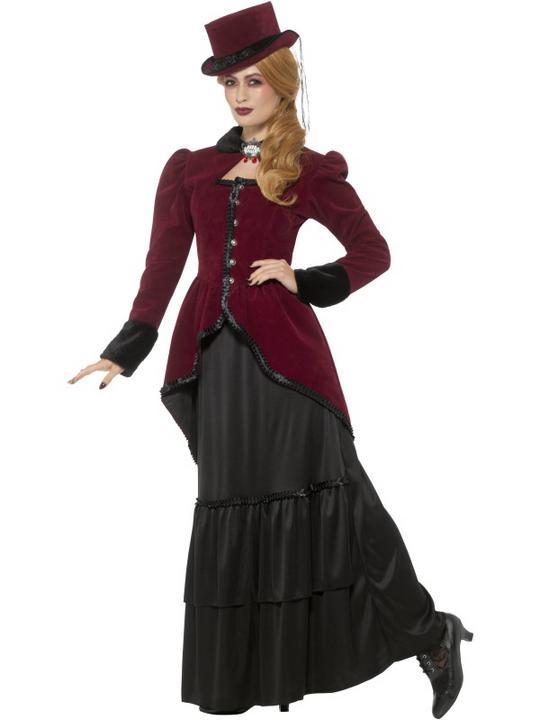Deluxe Victorian Vampiress Women's Fancy Dress Costume Thumbnail 3