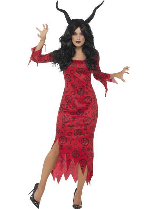 Occult Devil Women's Fancy Dress Costume Thumbnail 1