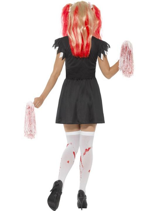 Satanic Cheerleader Women's Fancy Dress Costume Thumbnail 2