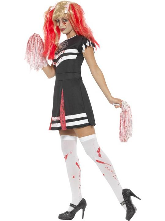 Satanic Cheerleader Women's Fancy Dress Costume Thumbnail 3