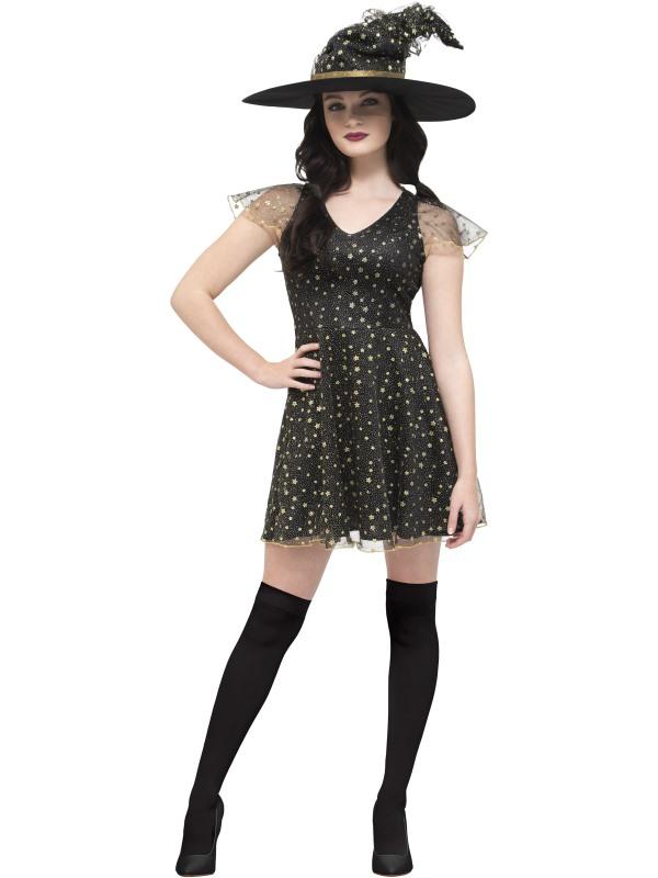 Fever Moon & Stars Witch Women's Fancy Dress Costume