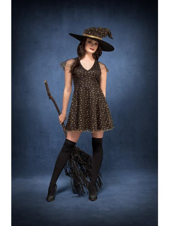 Fever Moon & Stars Witch Women's Fancy Dress Costume Thumbnail 2