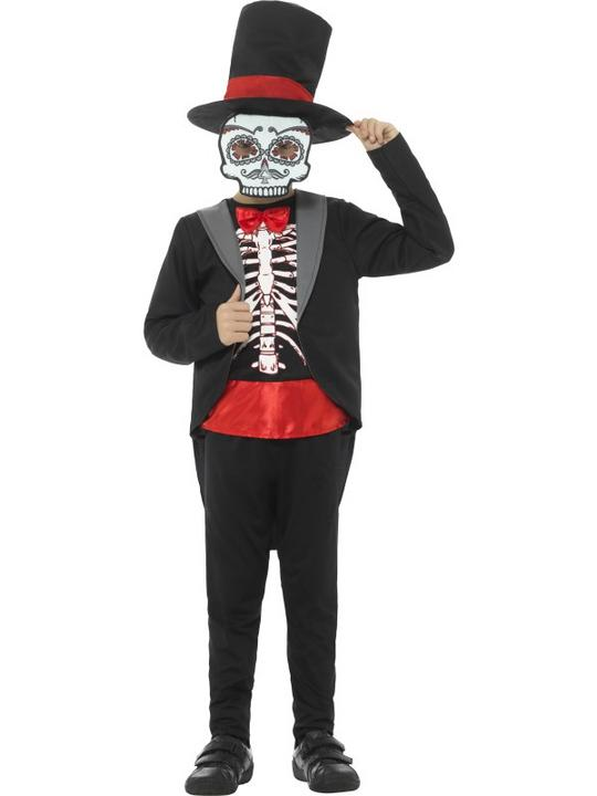 Day of the Dead Boy Fancy Dress Costume Thumbnail 1