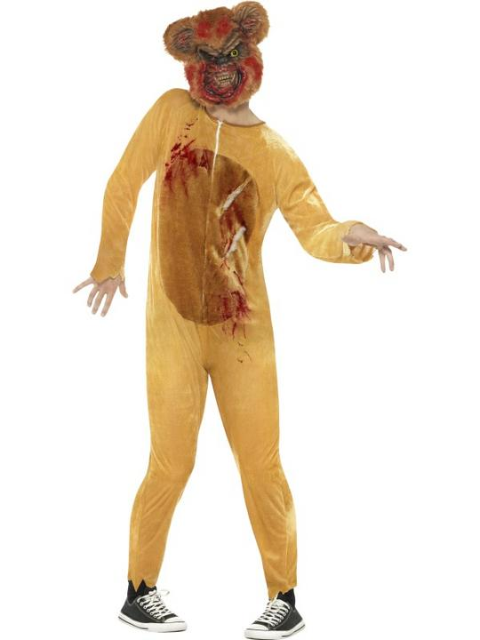 Deluxe Zombie Teddy Bear Men's Fancy Dress Costume Thumbnail 1