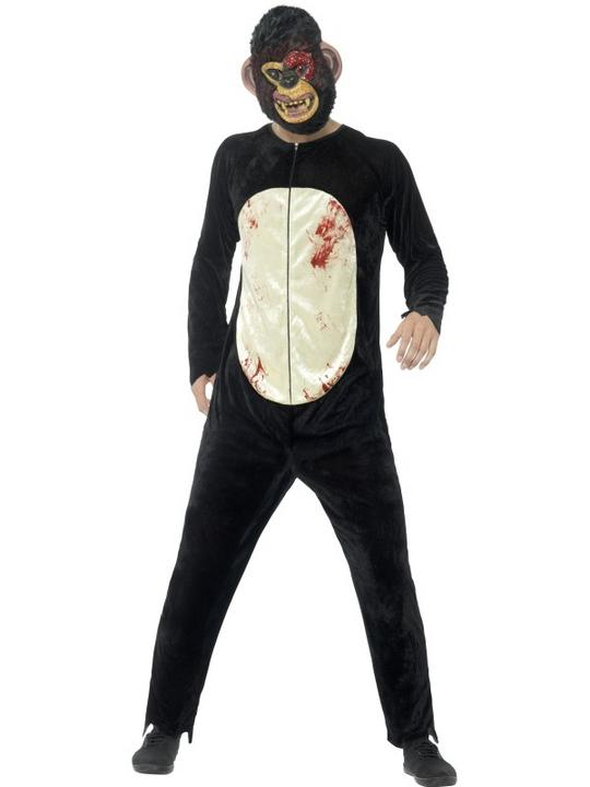 Deluxe Zombie Chimp Men's Fancy Dress Costume Thumbnail 1
