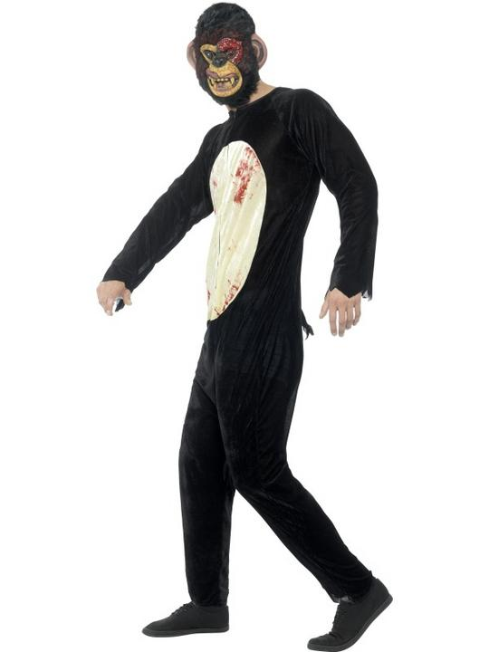 Deluxe Zombie Chimp Men's Fancy Dress Costume Thumbnail 3