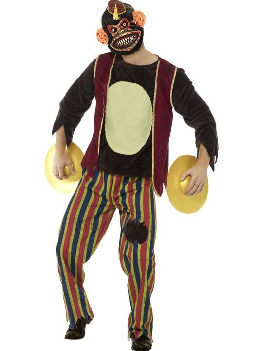 Deluxe Clapping Monkey Toy Men's Fancy Dress Costume Thumbnail 1