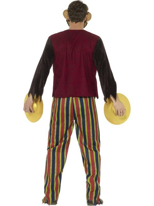 Deluxe Clapping Monkey Toy Men's Fancy Dress Costume Thumbnail 2