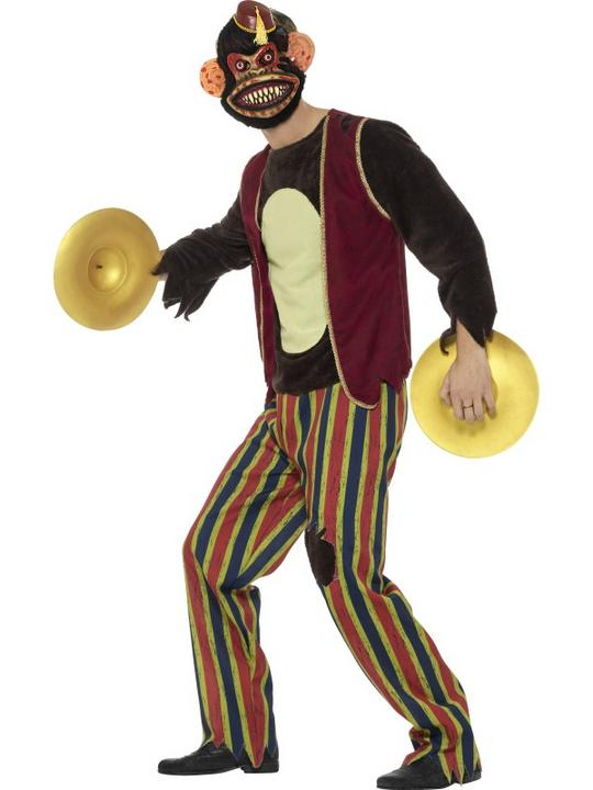 Deluxe Clapping Monkey Toy Men's Fancy Dress Costume Thumbnail 3