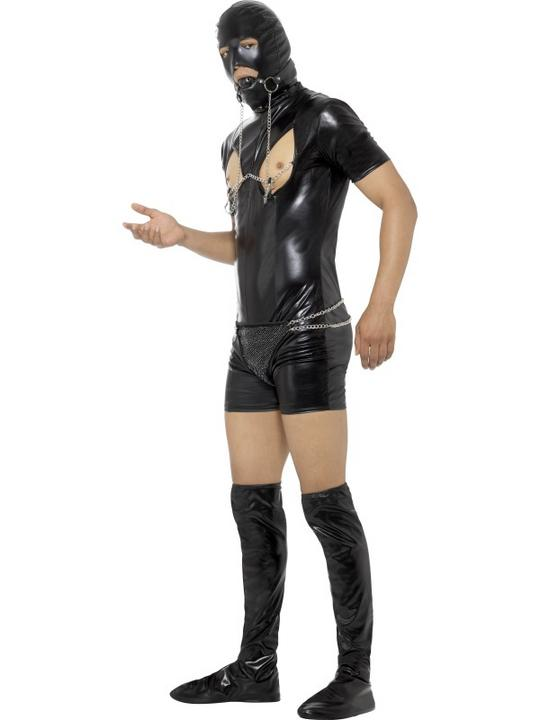 Bondage Gimp Men's Fancy Dress Costume Thumbnail 3