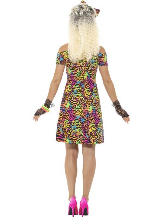 80's Party Animal Women's Fancy Dress Costume Thumbnail 3