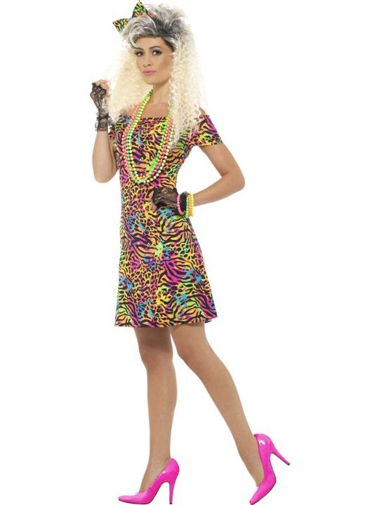 80's Party Animal Women's Fancy Dress Costume Thumbnail 4