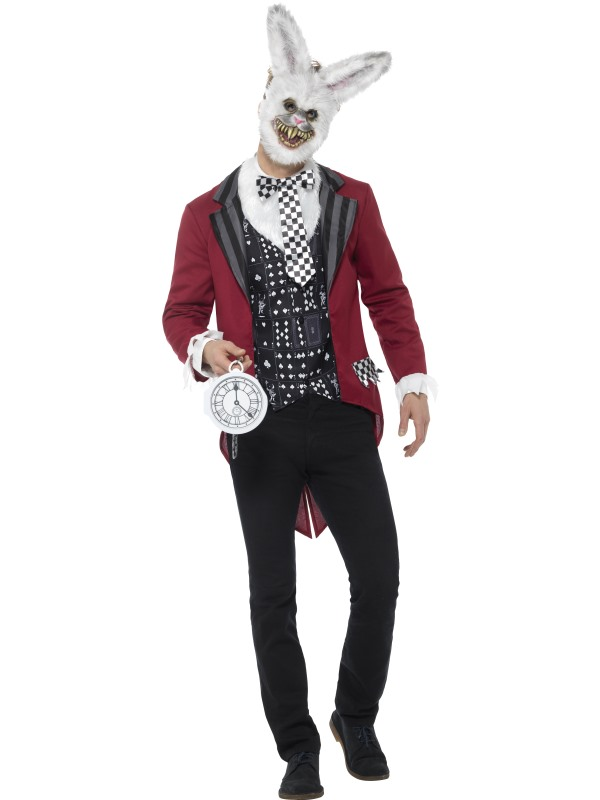 Deluxe White Rabbit Men's Fancy Dress Costume