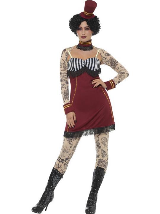 Deluxe Tattoo Lady Women's Fancy Dress Costume Thumbnail 1