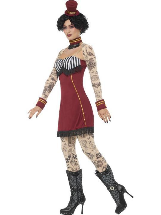 Deluxe Tattoo Lady Women's Fancy Dress Costume Thumbnail 2
