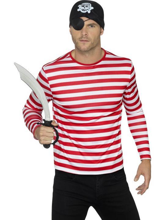 Stripy T-Shirt Adult Fancy Dress Costume Thumbnail 1