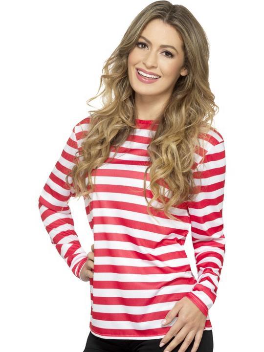 Stripy T-Shirt Adult Fancy Dress Costume Thumbnail 3