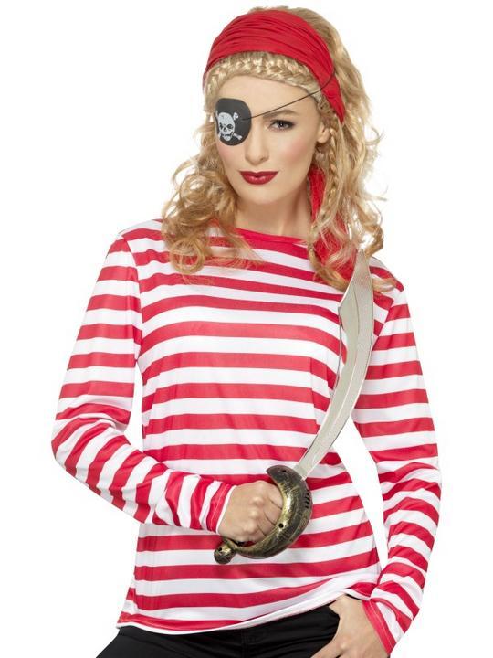 Stripy T-Shirt Adult Fancy Dress Costume Thumbnail 4