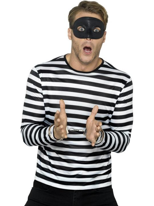 Stripy T-Shirt Unisex Fancy Dress Costume Thumbnail 3