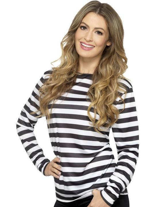Stripy T-Shirt Unisex Fancy Dress Costume Thumbnail 5