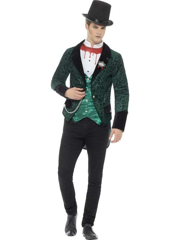 Deluxe Victorian Vampire  Men's Fancy Dress Costume