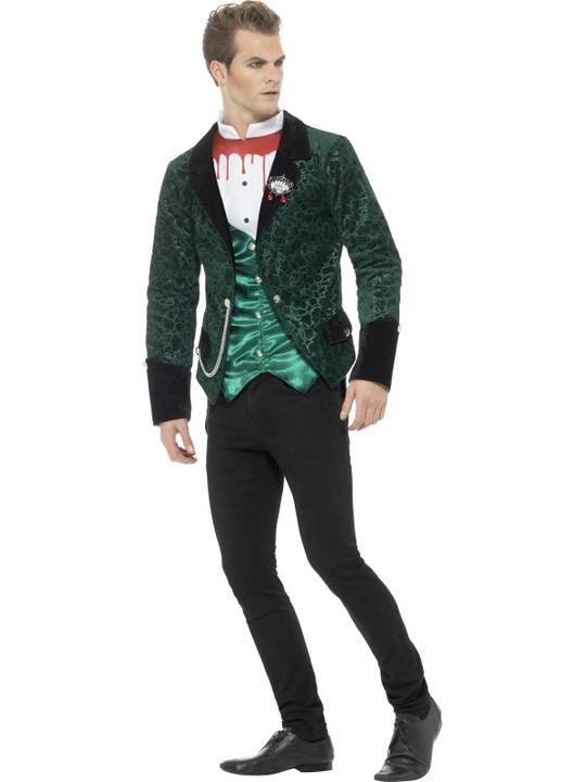 Deluxe Victorian Vampire  Men's Fancy Dress Costume Thumbnail 2