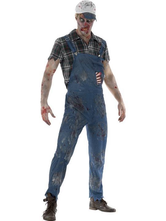 Zombie Hillbilly Costume Men's Fancy Dress Costume Thumbnail 1