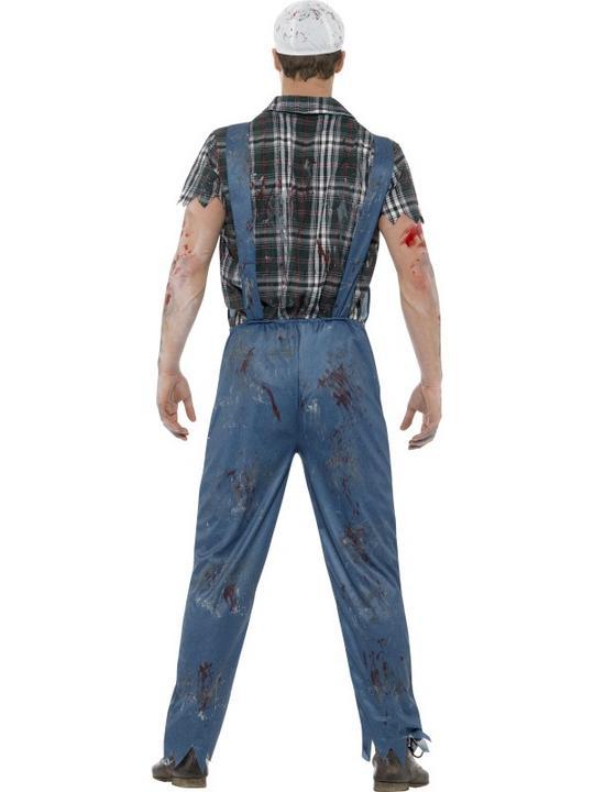 Zombie Hillbilly Costume Men's Fancy Dress Costume Thumbnail 2