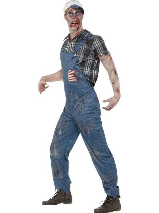 Zombie Hillbilly Costume Men's Fancy Dress Costume Thumbnail 3