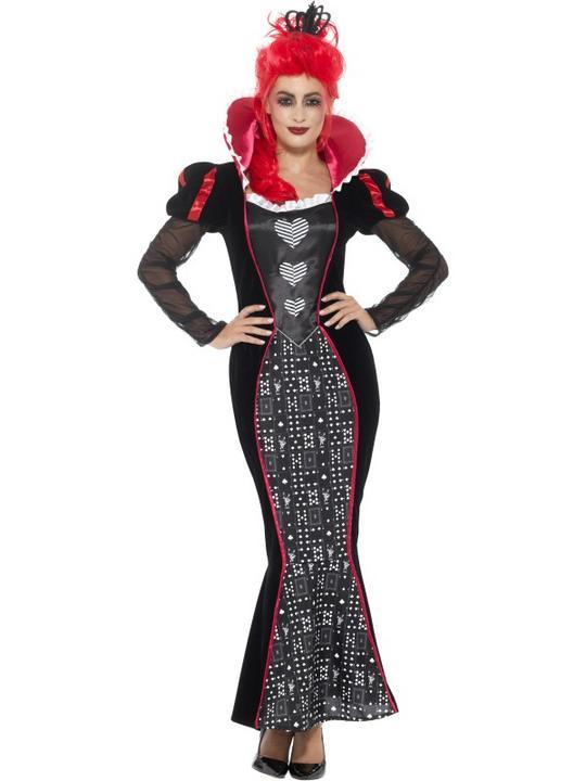 Deluxe Baroque Dark Queen Women's Fancy Dress Costume Thumbnail 1