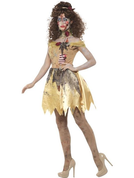 Zombie Golden Fairytale Women's Fancy Dress Costume Thumbnail 2
