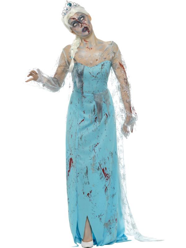 Zombie Froze to Death Women's Fancy Dress Costume